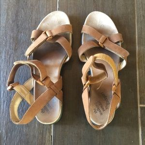Rockport Brown Leather Sandals Size 9